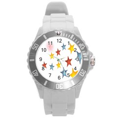 Star Rainbow Round Plastic Sport Watch (l)