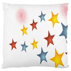 Star Rainbow Large Cushion Case (two Sides)