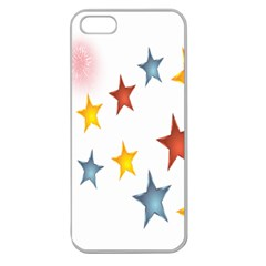 Star Rainbow Apple Seamless Iphone 5 Case (clear)