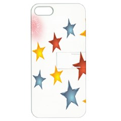 Star Rainbow Apple Iphone 5 Hardshell Case With Stand