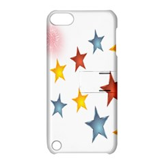 Star Rainbow Apple Ipod Touch 5 Hardshell Case With Stand