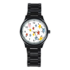 Star Rainbow Stainless Steel Round Watch