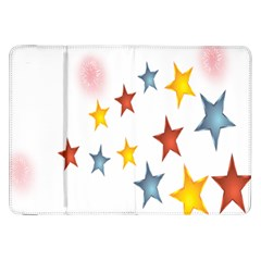 Star Rainbow Samsung Galaxy Tab 8 9  P7300 Flip Case