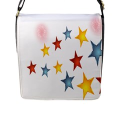 Star Rainbow Flap Closure Messenger Bag (l)