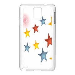 Star Rainbow Samsung Galaxy Note 3 N9005 Case (white)
