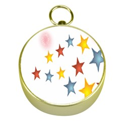 Star Rainbow Gold Compasses