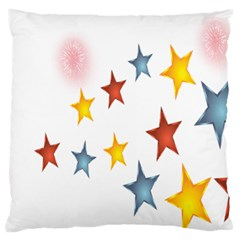 Star Rainbow Large Flano Cushion Case (two Sides)