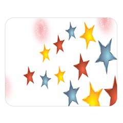Star Rainbow Double Sided Flano Blanket (large)