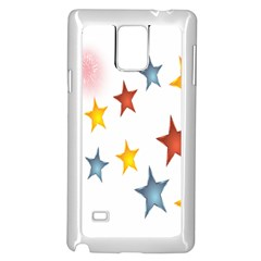 Star Rainbow Samsung Galaxy Note 4 Case (white)
