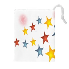 Star Rainbow Drawstring Pouch (xl)