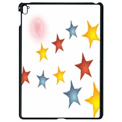 Star Rainbow Apple Ipad Pro 9 7   Black Seamless Case