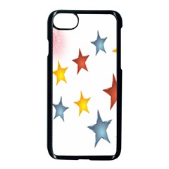 Star Rainbow Apple Iphone 8 Seamless Case (black) by Alisyart