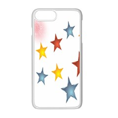 Star Rainbow Apple Iphone 8 Plus Seamless Case (white)