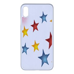 Star Rainbow Apple Iphone Xs Max Seamless Case (white)