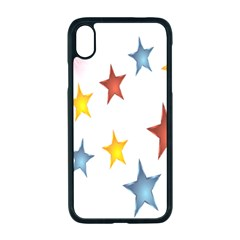 Star Rainbow Apple Iphone Xr Seamless Case (black)