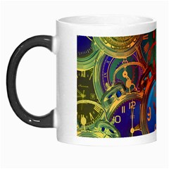 Time Clock Distortion Morph Mugs