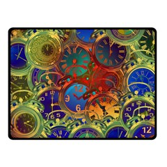 Time Clock Distortion Fleece Blanket (small) by Mariart