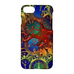 Time Clock Distortion Apple Iphone 8 Hardshell Case