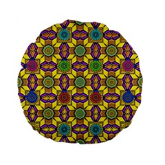 Tile Background Geometric Standard 15  Premium Flano Round Cushions by Jojostore