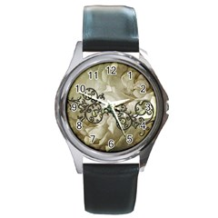 A Touch Of Vintage Round Metal Watch