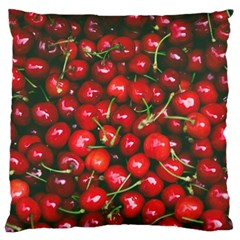 Cherries Jubilee Large Flano Cushion Case (two Sides) by WensdaiAddamns