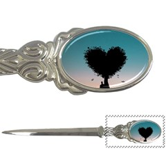 Tree Heart At Sunset Letter Opener by WensdaiAddamns