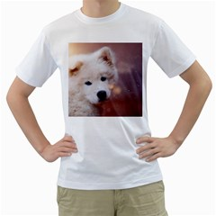 Puppy Love Men s T Shirt (white)