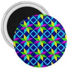 Pattern Star Abstract Background 3  Magnets