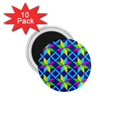Pattern Star Abstract Background 1 75  Magnets (10 Pack)  by Pakrebo