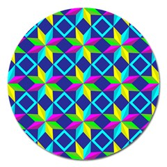 Pattern Star Abstract Background Magnet 5  (round)