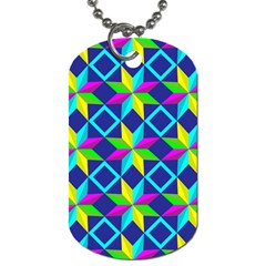 Pattern Star Abstract Background Dog Tag (two Sides)
