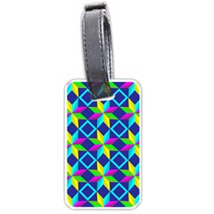 Pattern Star Abstract Background Luggage Tags (one Side)