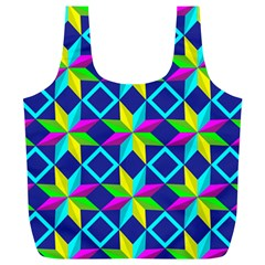 Pattern Star Abstract Background Full Print Recycle Bag (xl)