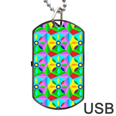 Star Texture Template Design Dog Tag Usb Flash (two Sides)