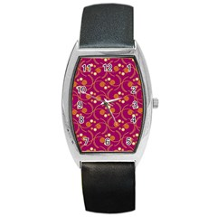 Pattern Wallpaper Seamless Abstract Barrel Style Metal Watch
