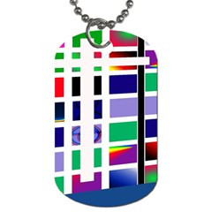 Color Graffiti Pattern Geometric Dog Tag (one Side)