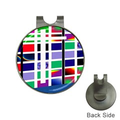 Color Graffiti Pattern Geometric Hat Clips With Golf Markers