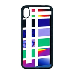 Color Graffiti Pattern Geometric Apple Iphone Xr Seamless Case (black)