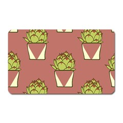 Cactus Pattern Background Texture Magnet (rectangular)