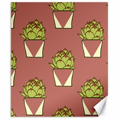 Cactus Pattern Background Texture Canvas 20  X 24
