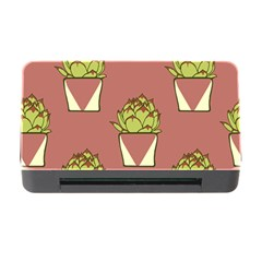 Cactus Pattern Background Texture Memory Card Reader With Cf
