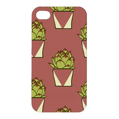 Cactus Pattern Background Texture Apple Iphone 4/4s Hardshell Case by Pakrebo