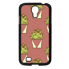 Cactus Pattern Background Texture Samsung Galaxy S4 I9500/ I9505 Case (black)