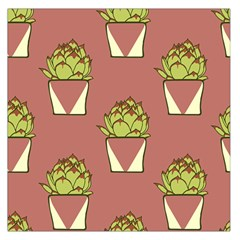 Cactus Pattern Background Texture Large Satin Scarf (square)