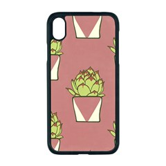 Cactus Pattern Background Texture Apple Iphone Xr Seamless Case (black)
