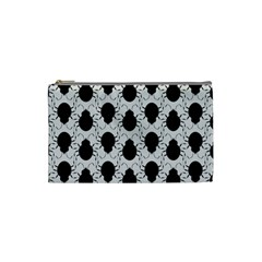 Pattern Beetle Insect Black Grey Cosmetic Bag (small)