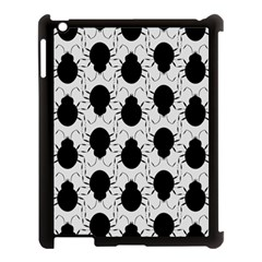 Pattern Beetle Insect Black Grey Apple Ipad 3/4 Case (black)