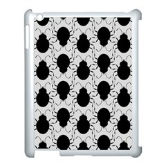 Pattern Beetle Insect Black Grey Apple Ipad 3/4 Case (white)