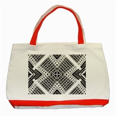 Pattern Tile Repeating Geometric Classic Tote Bag (red)