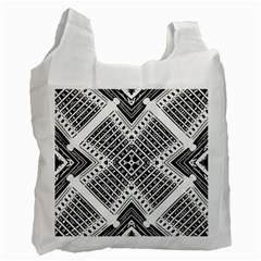 Pattern Tile Repeating Geometric Recycle Bag (two Side)